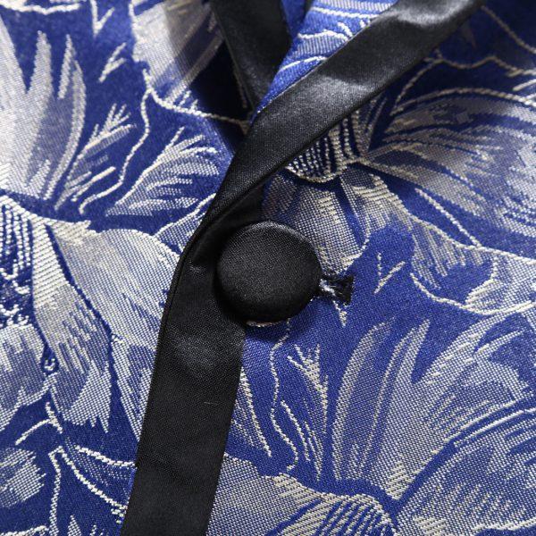 Wedding Floral Royal Blue dinner Jacket