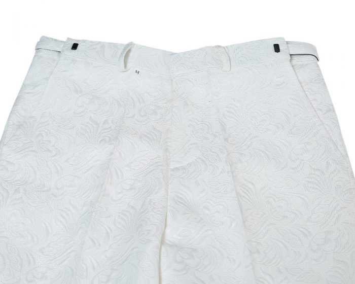 Floral White Formal Pant
