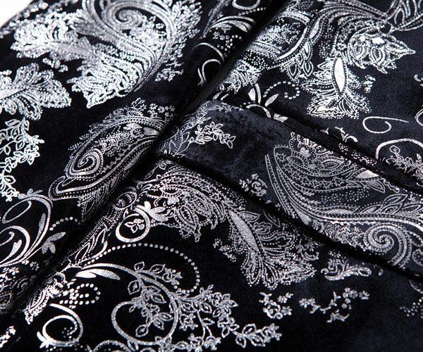 Floral Print Silver And Black Mens Jacket Prom-Wedding-Dinner