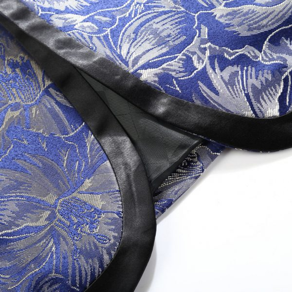 Gentleman's Royal Blue Wedding Tuxedo With Black Trim