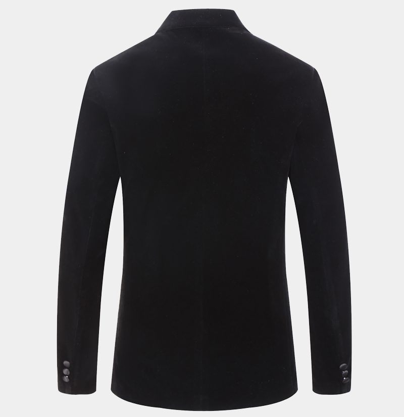 Mens Black Velvet Dinner Jacket from Gentlemansguru.com