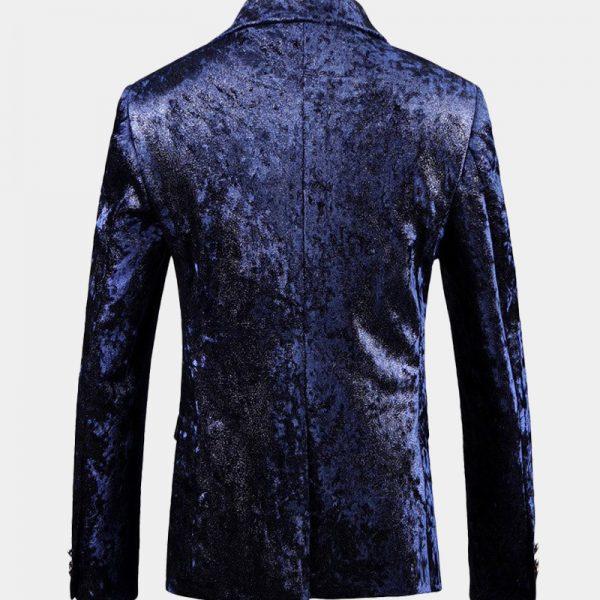 Mens Dark Blue Velvet Sport Coat