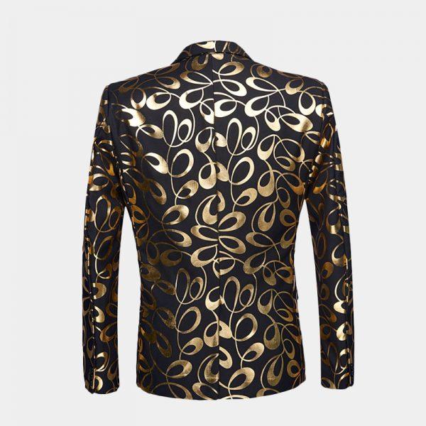 Gold And Black Tuxedo Jacket Blazer