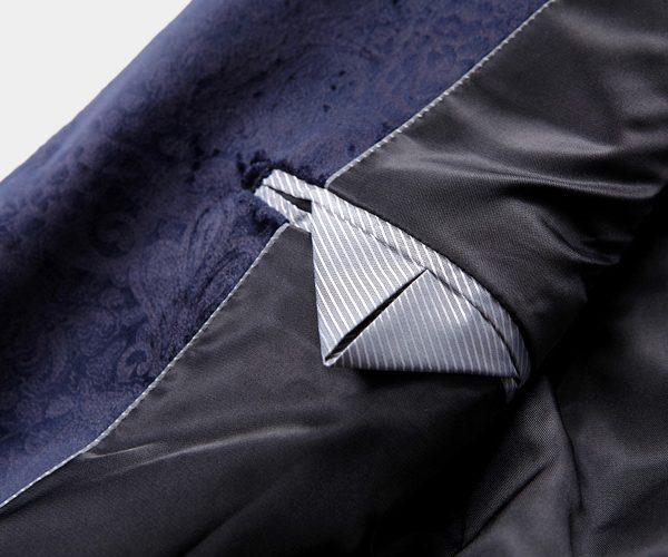 Mens Navy Blue Floral Wedding Jacket