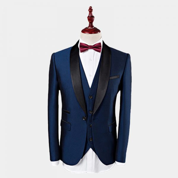 Men's Navy Blue Wedding Tuxedo Jacket