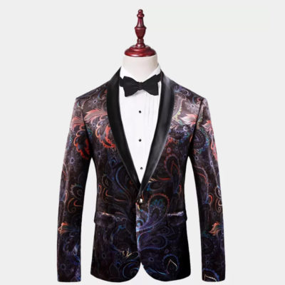 Mens Paisley Tuxedo Jacket from Gentlemansguru.com