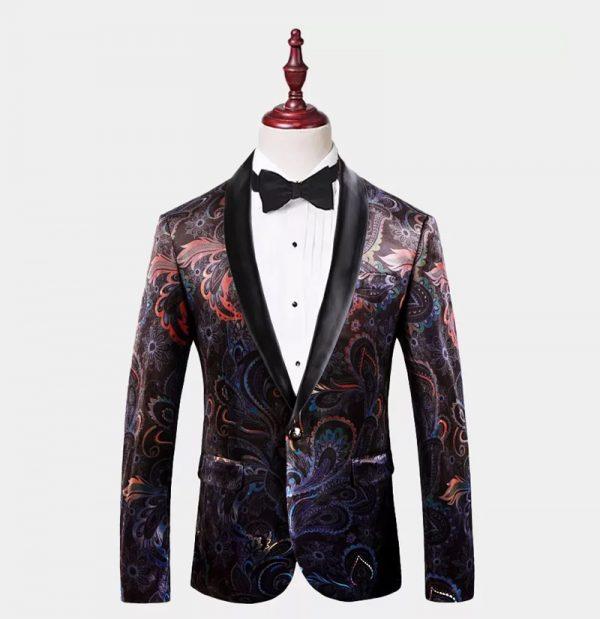 Mens Paisley Tuxedo Jacket from Gentlemansguru.com