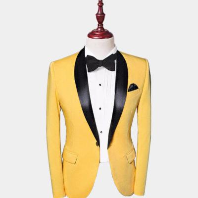 Mens Yellow Tuxedo Jacket
