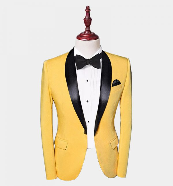 Mens Yellow Tuxedo Jacket