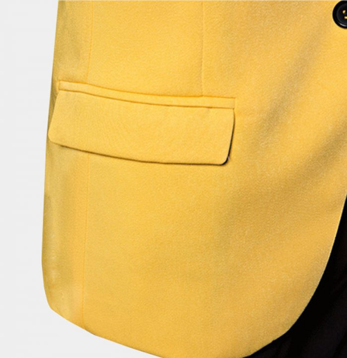 Mens Yellow Tuxedo Jacket All Black Tuxedo Blazer from Gentlemansguru.Com