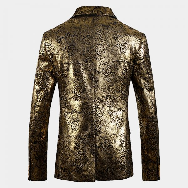 Mens gold Floral Jacket