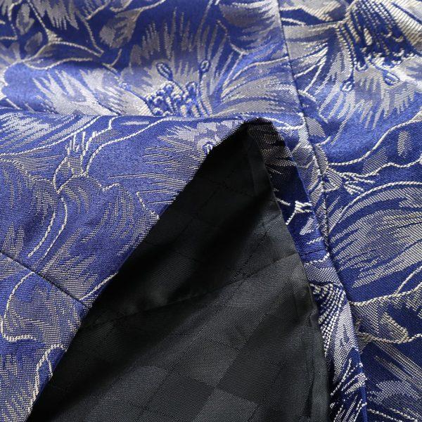 Men's royal Blue Floral formal Jacket