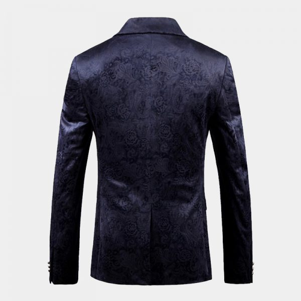 Navy Floral Jacket for Men