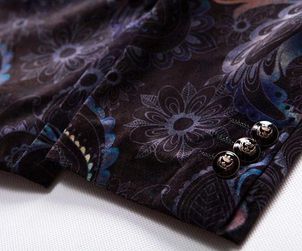 Paisley Tuxedo Jacket Sleeve
