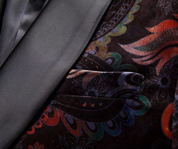 Paisley tuxedo Jacket with Shawl Lapel