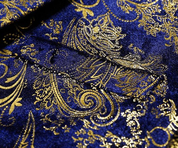 Royal Blue And Gold Wedding Jacket For Men