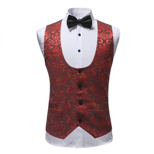 Red And Black Tuxedo Vest from Gentlemansguru.com