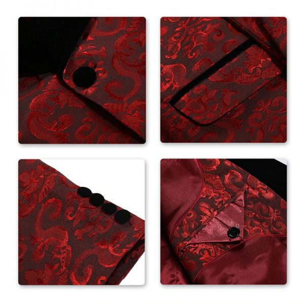 Red Floral Tux Desing