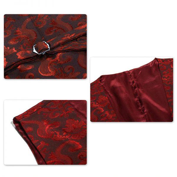 Red Floral Tux For Men