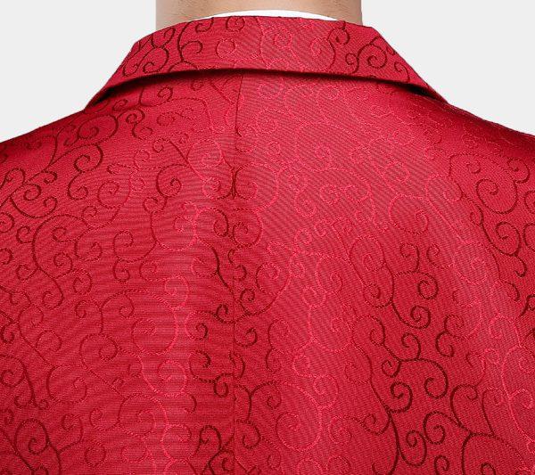 Red Jacquard Tux Blazer