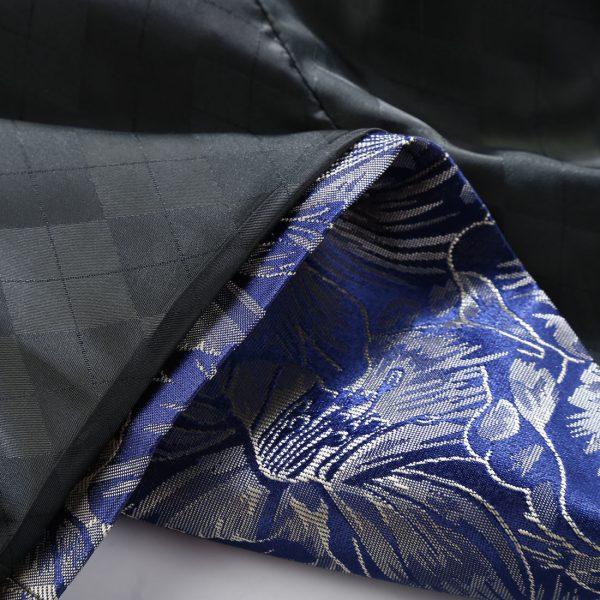 Royal Blue Floral Tux Jacket Material