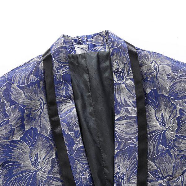 Royal Blue Tuxedo Jacket With Black Trim