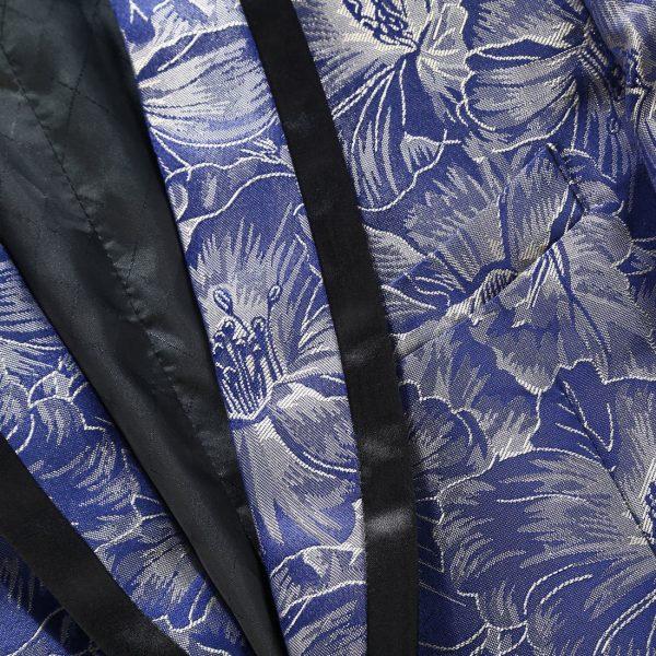 Royal Blue Wedidng Tuxedo Black Trim