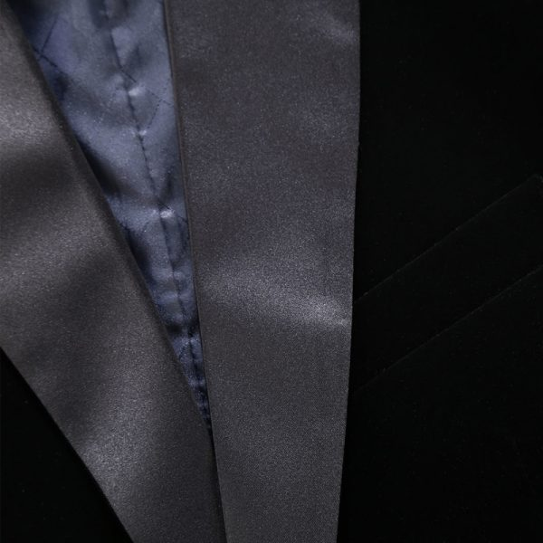 Shawl Collar Black Velvet Tux Jacket Blazer from Gentlemansguru.com