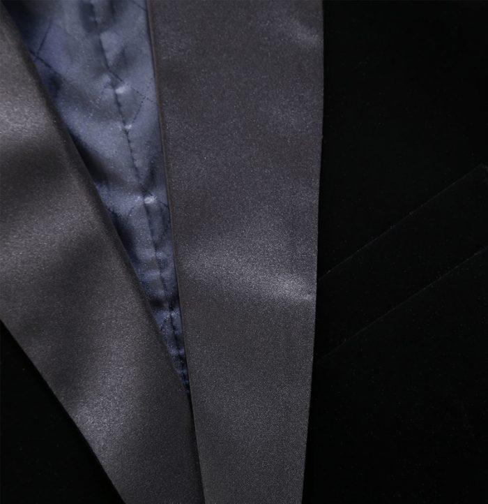 Shawl Collar Black Velvet Tux Jacket Blazer from Gentlemansguru.com