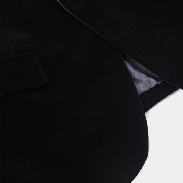 Slmi Fit Black Velvet Tux Jacket from Gentlemansguru.com