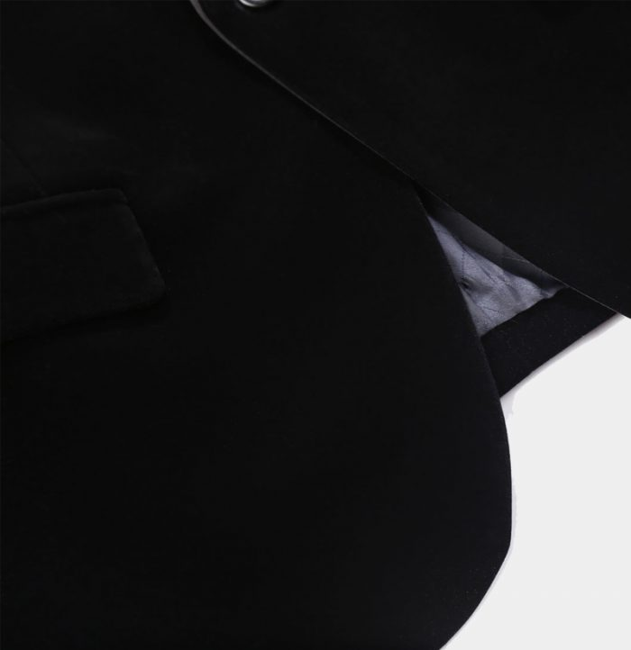 Slmi Fit Black Velvet Tux Jacket from Gentlemansguru.com
