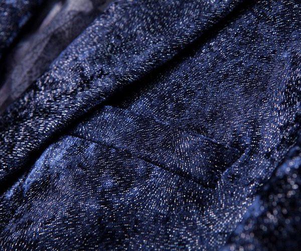 Velvet Jacket for Men In Dark Blue