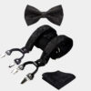 Black Floral Bow Tie And Suspenders Set from Gentlemansguru.com