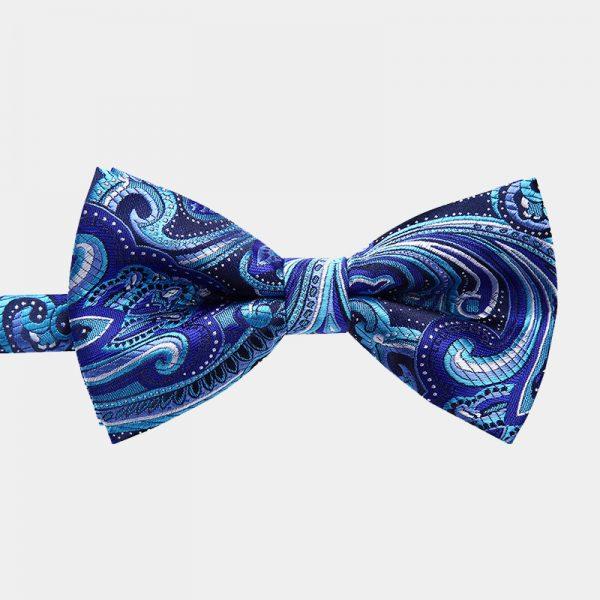 Blue Paisley Pre-Tie Bow Tie from Gentlemansguru.com