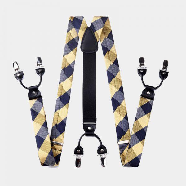 Gold Plaid Suspenders Set from Gentlemansguru.com