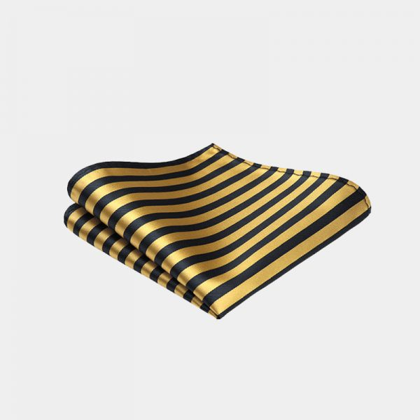 Gold Striped Pocket Square from Gentlemansguru.com