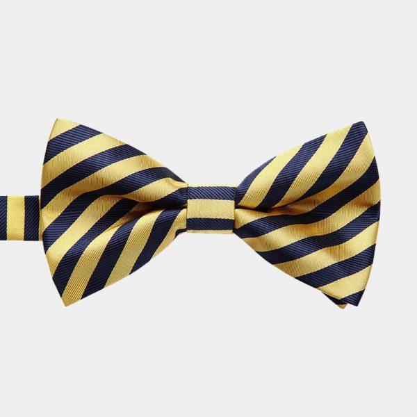 Gold Striped Pre-Tie Bow Tie from Gentlemansguru.com