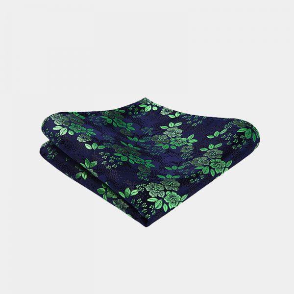 Green Floral Pocket Square from Gentlemansguru.com