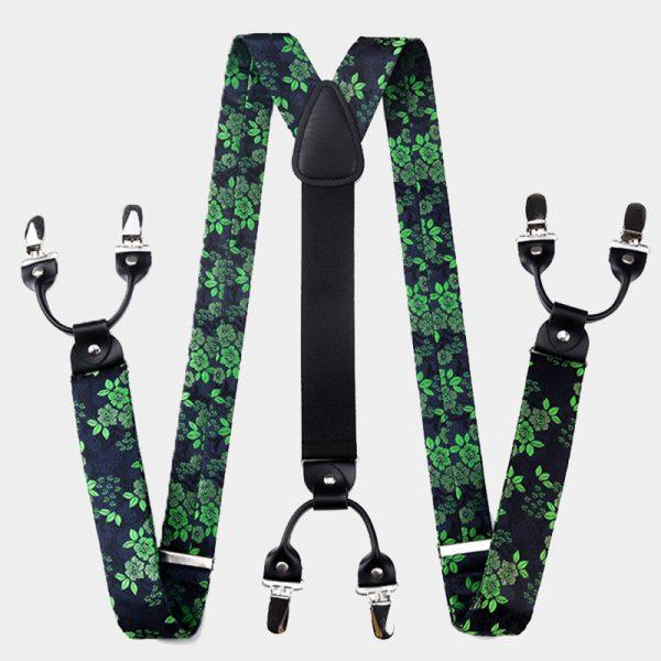 Green Floral Suspenders from Gentlemansguru.com