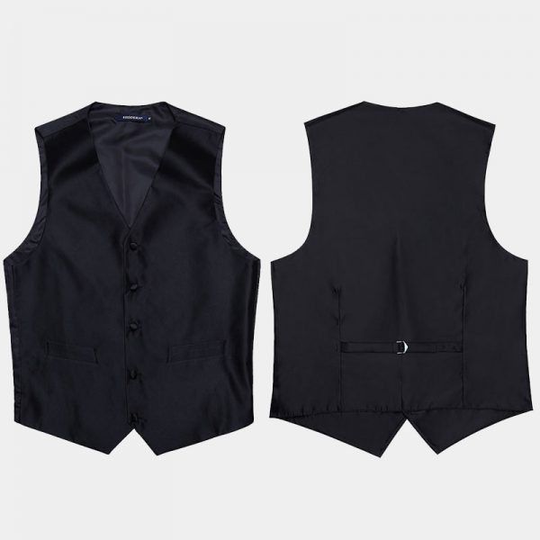 Mens Black Vest Set