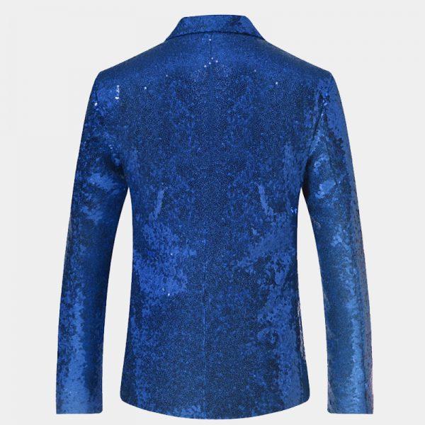 Mens Blue Sequins Tuxedo Jacket from Gentlemansguru.com