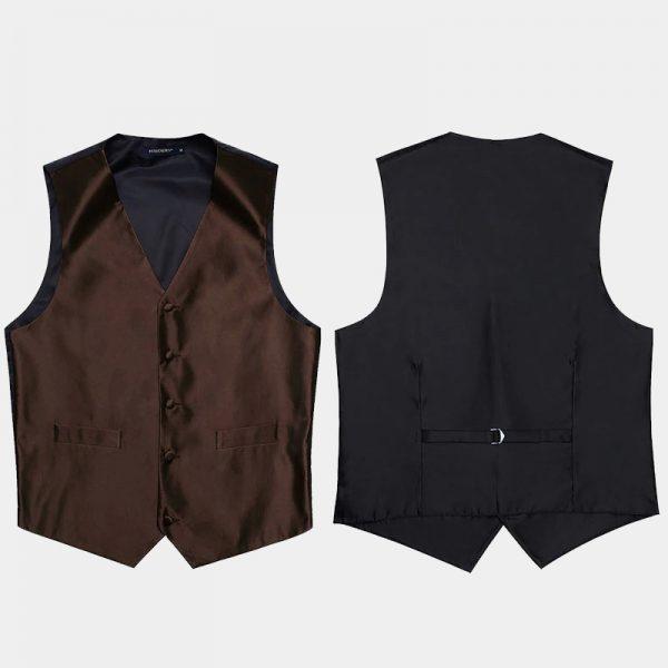 Mens Brown Vest Set
