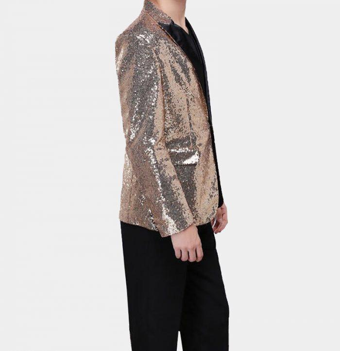 Mens Gold Sparkly Tuxedo Jacket from Gentlemansguru.com