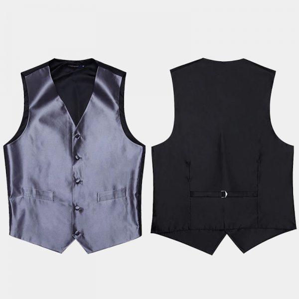 Mens Gray Vest Set