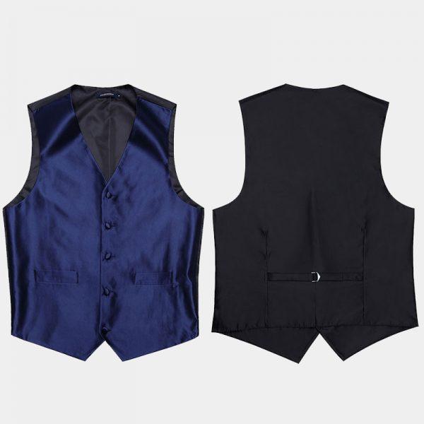 Mens Navy Blue Vest Set