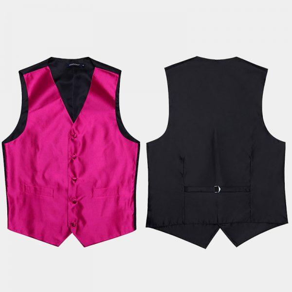 Mens Pink Vest Set