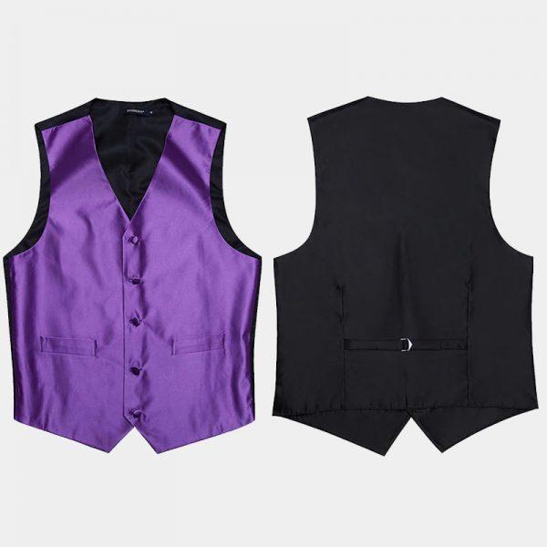 Mens Purple Vest Set