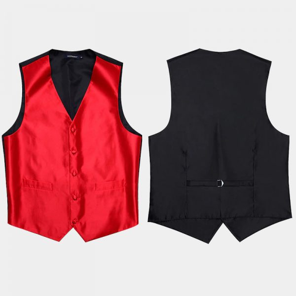 Mens Red Vest Set