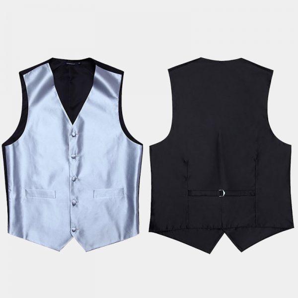 Mens Silver Vest Set