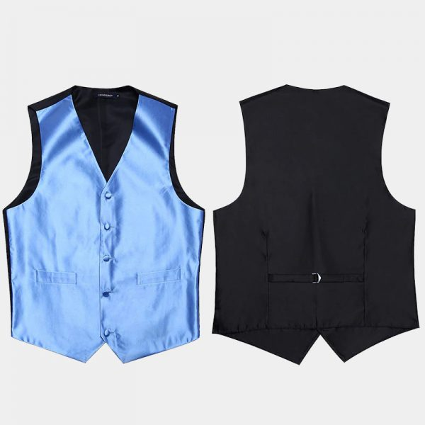 Mens Sky Blue Vest Set